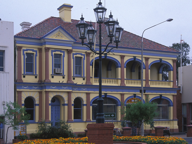 Inverell Australia  City pictures : The old Bank of New South Wales 1886