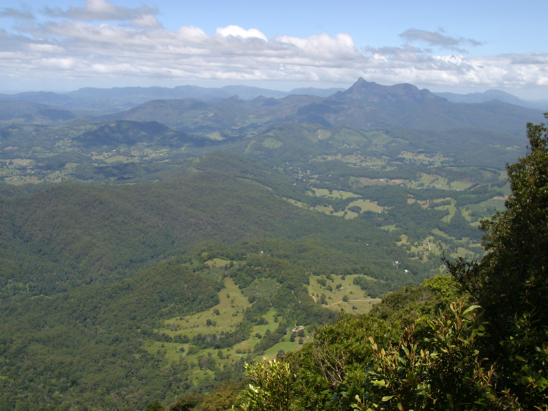 Murwillumbah Australia  city photos gallery : Mount Warning in the distance from the Best of All Lookout.